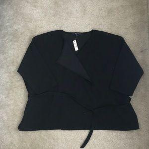 Madewell Black Wrap cardigan